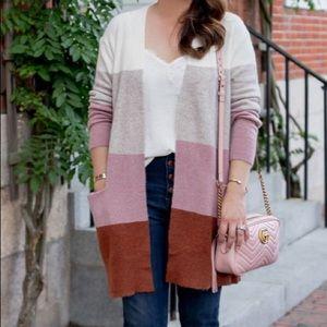 Madewell Ryder Colorblock Cardigan Sweater